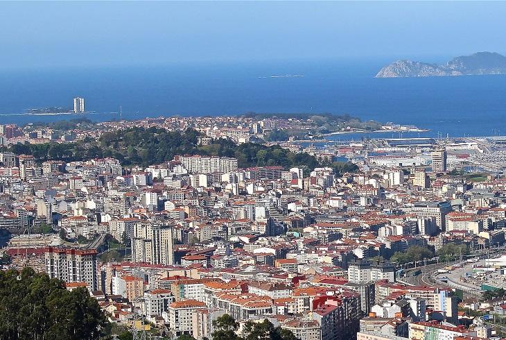 ערי חוף בספרד: ויגו ממבט על