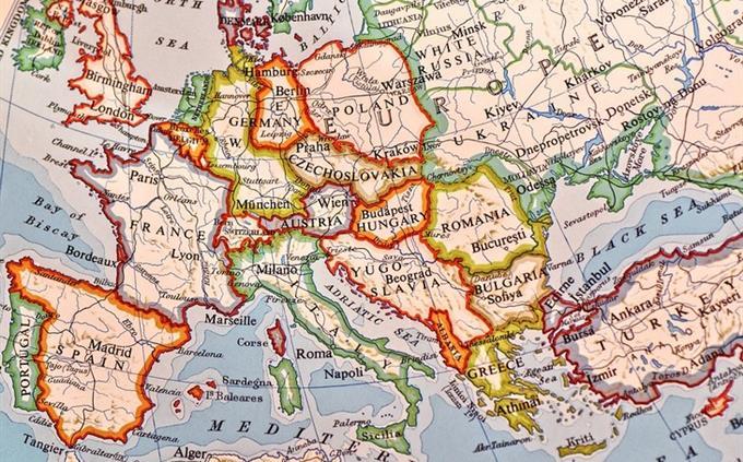 מבחן טריוויה ידע כללי: מפה של יבשת אירופה