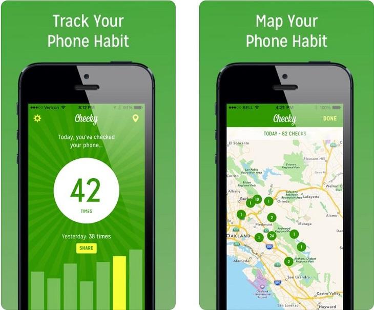 אפליקציות לגמילה משימוש בטלפון החכם: אפליקציית Checky