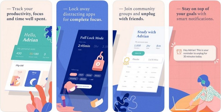 אפליקציות לגמילה משימוש בטלפון החכם: אפליקציית Flipd