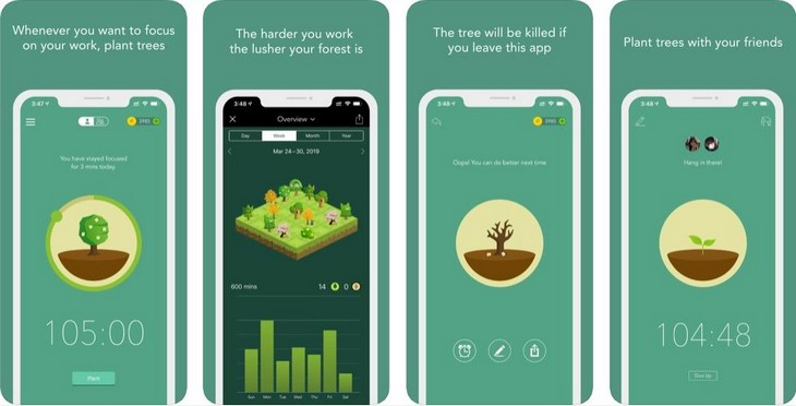 אפליקציות לגמילה משימוש בטלפון החכם: אפליקציית Forest