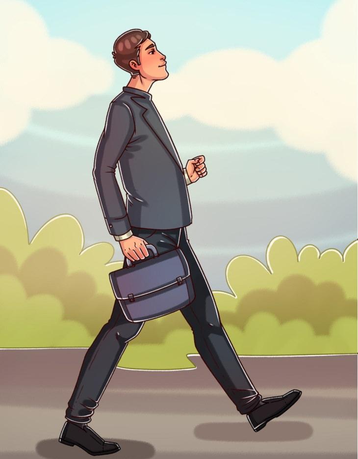 מה צורת ההליכה שלכם אומרת על האישיות שלכם: הליכת המנהל