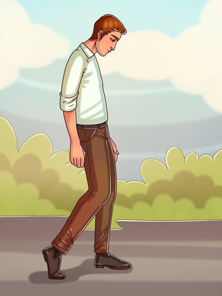 מה צורת ההליכה שלכם אומרת על האישיות שלכם: הליכת השפוף