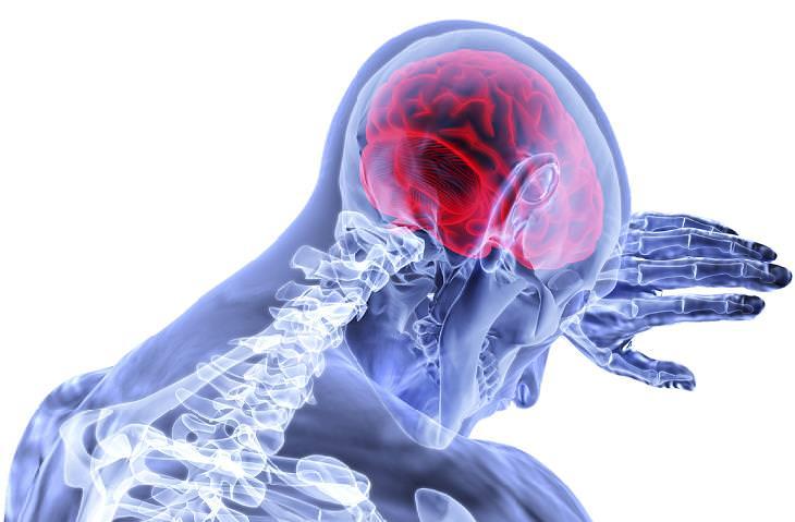 מחקר אודות הקשר בין שינה עמוקה לאלצהיימר: אילוסטרציה של איך נראים איבריו הפנימיים של אדם ששם את ידו על ראשו