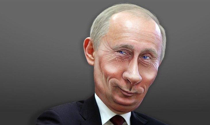 בדיחה על הבדלי זמנים בעולם: קריקטורה של הנשיא פוטי