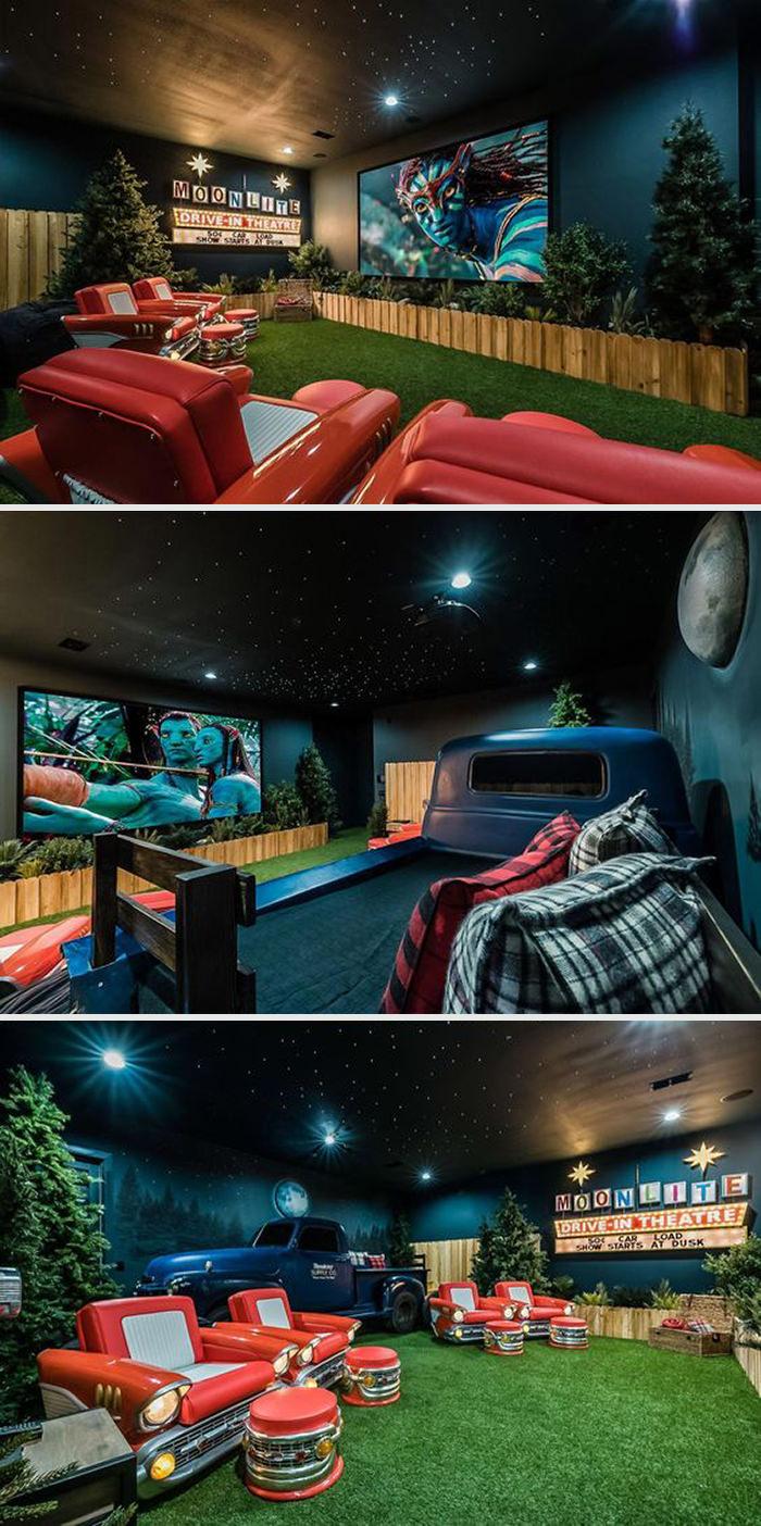 חדרי קולנוע פרטיים - אווירה כפרית פשוטה