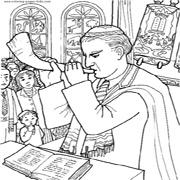 דפי צביעה בנושא יהדות: רב תוקע בשופר