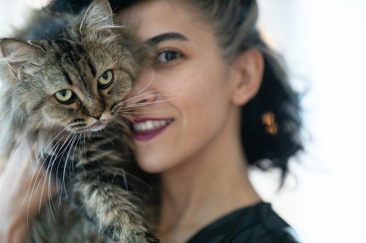 בדידות בעקבות עבודה מהבית: אישה מחזיקה חתול