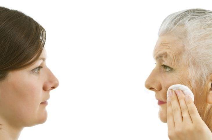 מחקר חדש על עצירת ההזדקנות: פנים של אישה מבוגרת מול צעירה