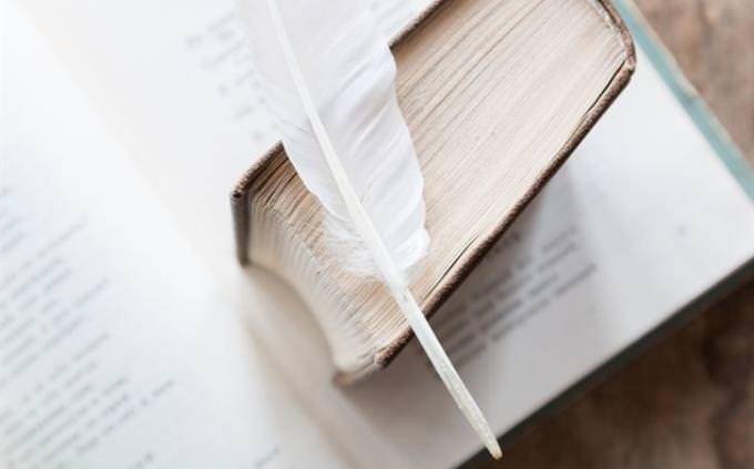 מבחן הגדרות: ספר ועליו נוצה