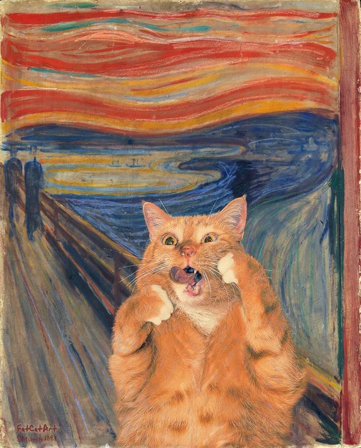 חתול פורץ ליצירות אומנות: היללה