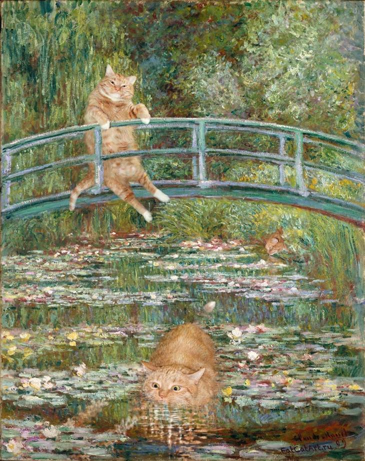 חתול פורץ ליצירות אומנות: חתלתולות המים