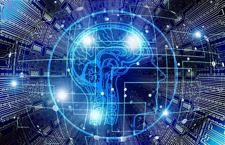 מחקר על מערכות יחסים מוצלחות: איור של ראש בסביבה דיגיטלית