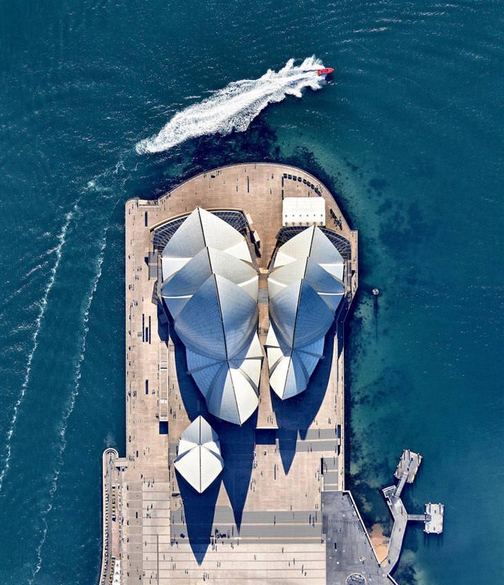 אתרי מורשת עולמית ממעוף הציפור: בית האופרה בסידני - אוסטרליה