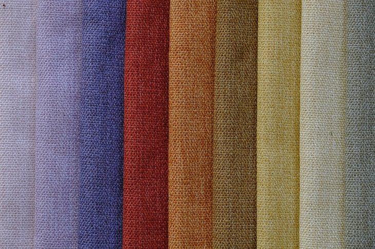 סוגי בדים: יריעות צבעוניות של כותנה