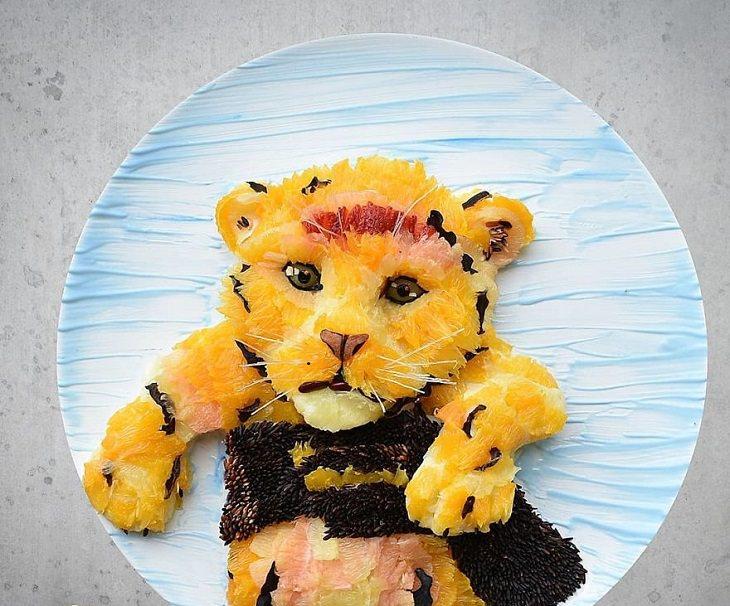 לשחק עם האוכל: דמותו של סימבה ממלך האריות