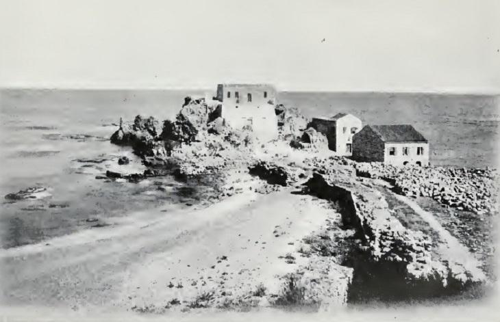 תמונות היסטוריות של ישראל: מבצר צלבני בקיסריה, 1903