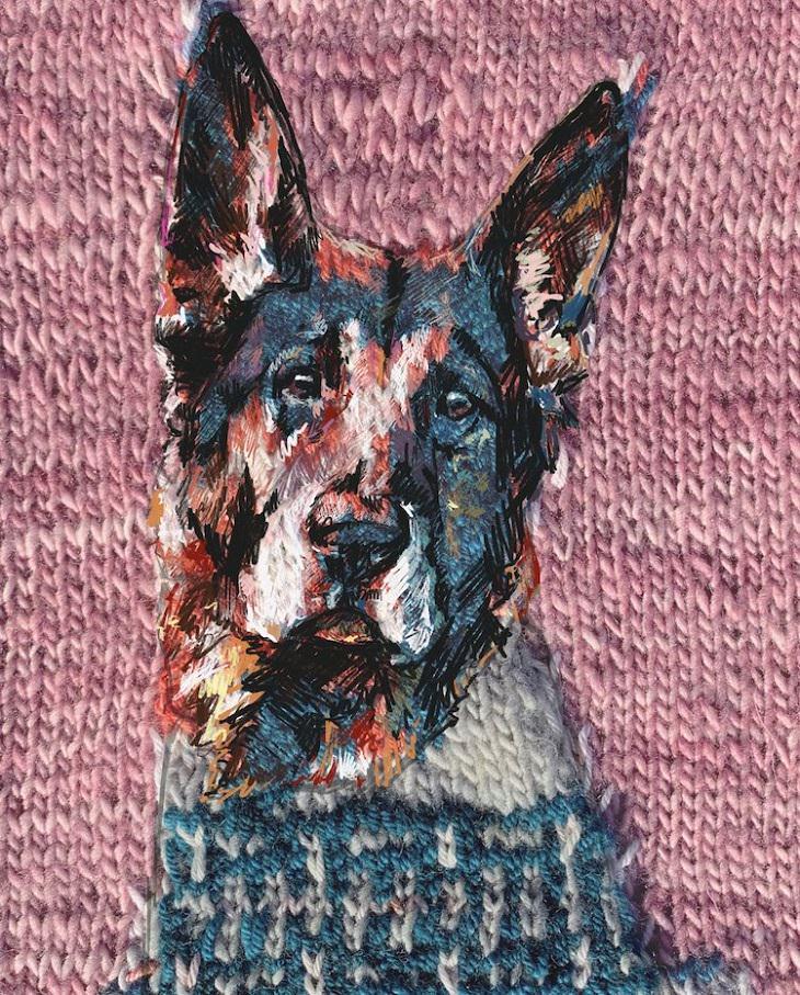 יצירות סריגה דיגיטלית: יצירת סריגה של כלב