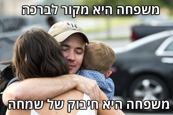"""מצגת ליום המשפחה: """"משפחה היא מקור לברכה, משפחה היא חיבוק של שמחה"""""""