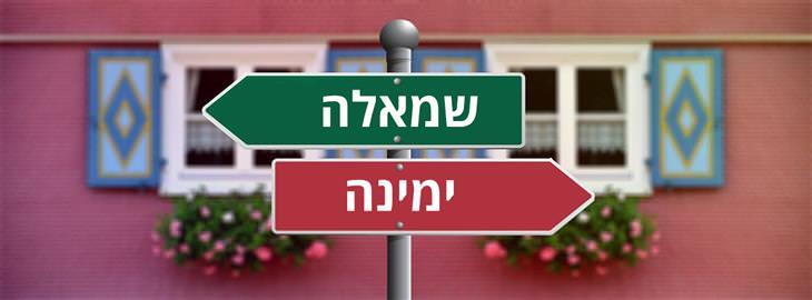 """איך לעשות החלטות: שלטים שפונים לכיוונים שונים וכתוב עליהם """"שמאלה"""" ו""""ימינה"""""""