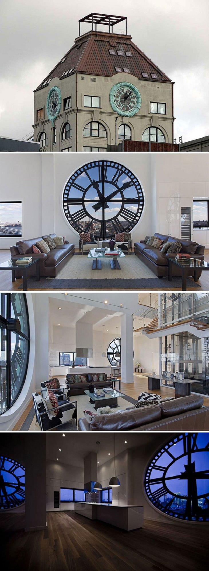 מבנים ישנים, ייעוד חדש: מגדל שעון שהוסב לדירת פנטהאוז