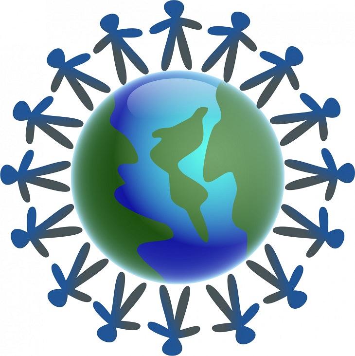 התנהגויות לא מקובלות: איור של אנשים סביב העולם אוחזים ידיים