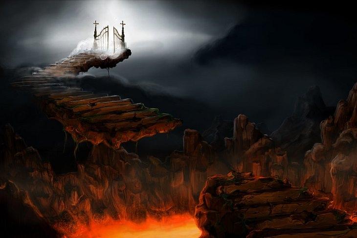 בדיחה על מהנדס בגיהינום: ציור של הדרך על שערי הגיהינום