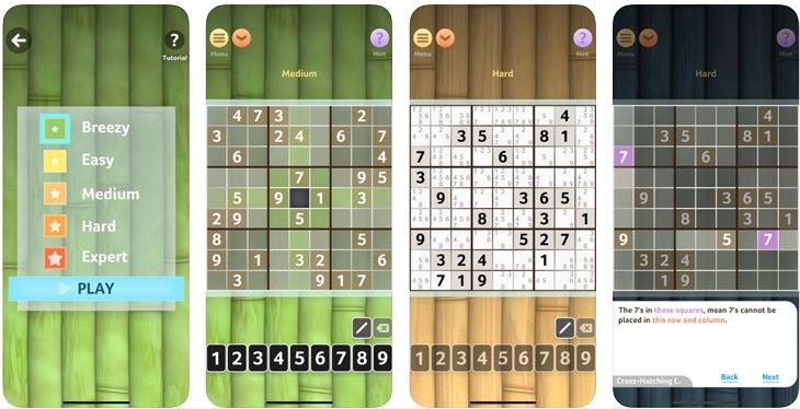 אפליקציות משחקים: לוח המשחק סדוקו