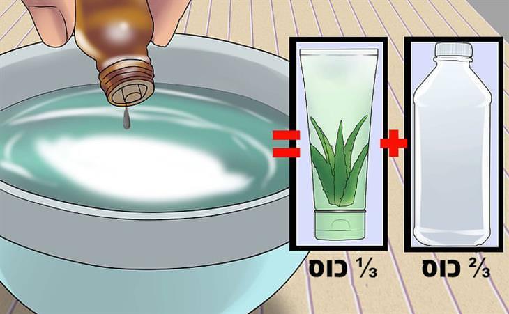 איך להכין ג'ל אלכוהול: איור של הכנת ג'ל לחיטוי ידיים