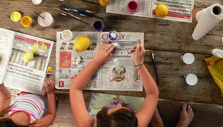 דברים שילדים צריכים ואוהבים: ילדים בזמן עבודות מלאכה