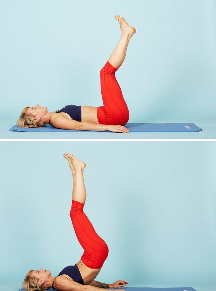 תרגילי כושר לחיזוק שרירי הגוף: תרגול עמידת נר