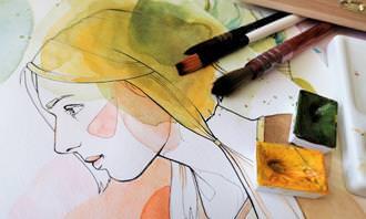מצא את ההבדלים: ציור של אישה