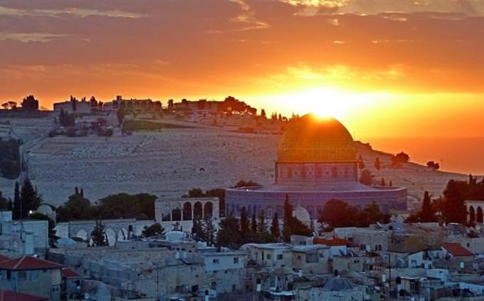 טריווית ירושלים: נופי ירושלים בשקיעה