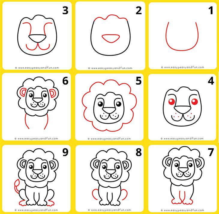 איך לצייר חיות: איך מציירים אריה