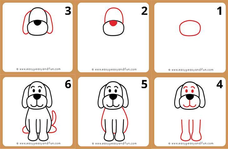 איך לצייר חיות: איך מציירים כלב.