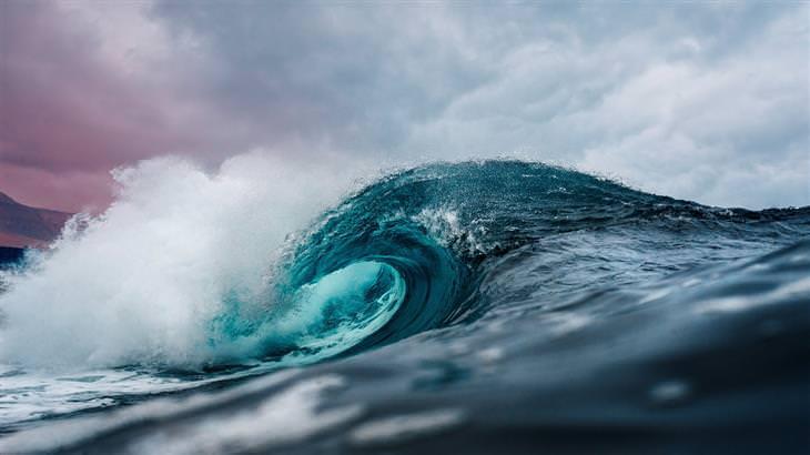 תמונות רקע וירטאוליות לזום: גל בים