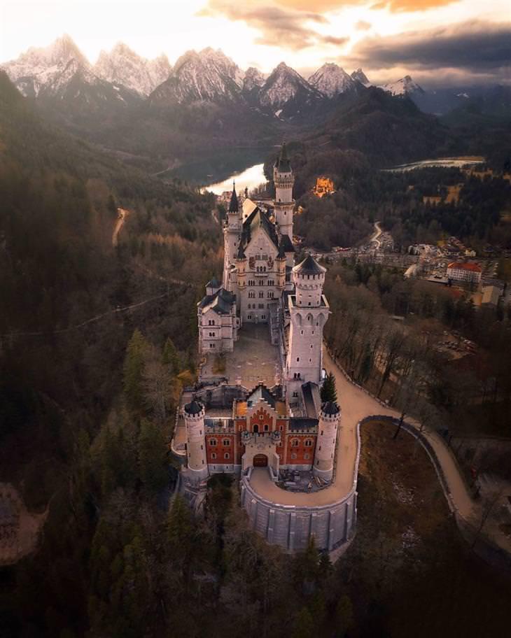 צילומים מתחרות תמונות הארכיטקטורה היפות ביותר לשנת 2020: טירת נוישוונשטיין בגרמניה