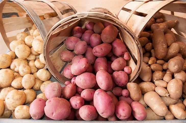 מדריך זני תפוחי אדמה: תפוחי אדמה בצבעים שונים