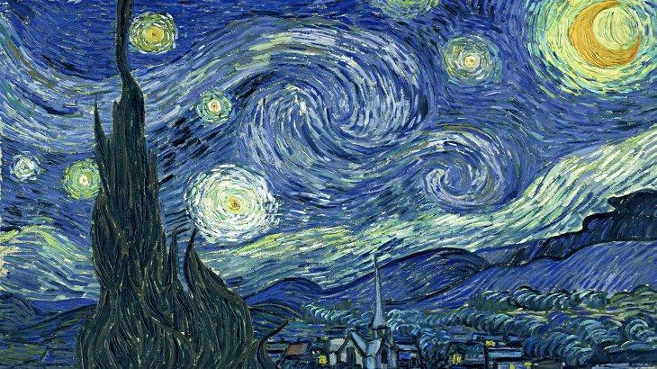 רקעים של יצירות אמנות למחשב ולסמארטפון: ליל כוכבים