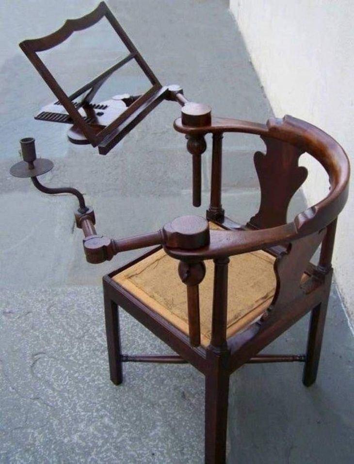 המצאות מהעבר שכדאי לחדש: כיסא עם משענת לעיתון