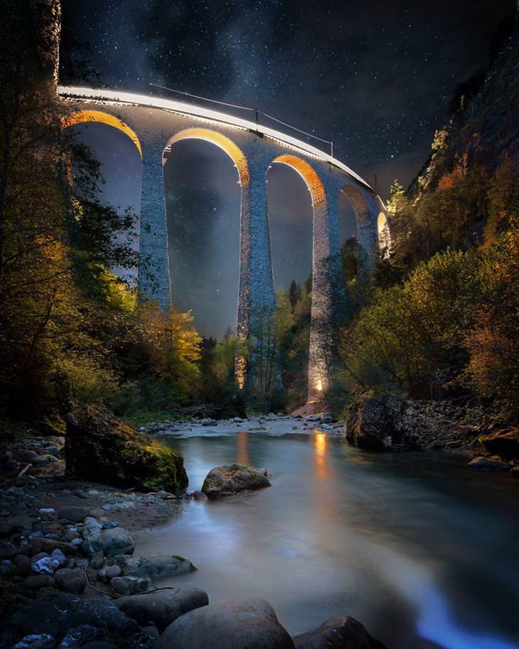 תמונות יפות בחשיפה ארוכה: פיליסור - שווייץ