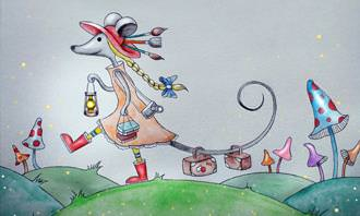 מצא את ההבדלים: ציור של עכבר