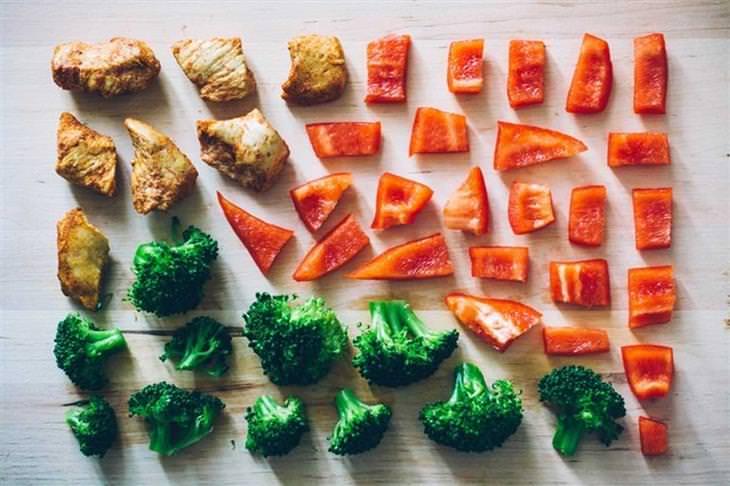 אוסף אינפוגרפיקה: ירקות חתוכים