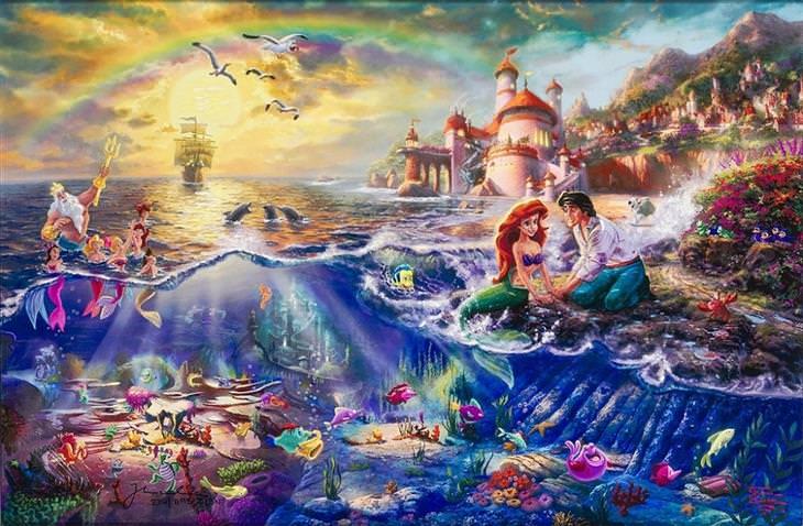 ציורים של דיסני: בת הים הקטנה