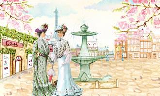 מצא את ההבדלים: ציור של נשים בפריז