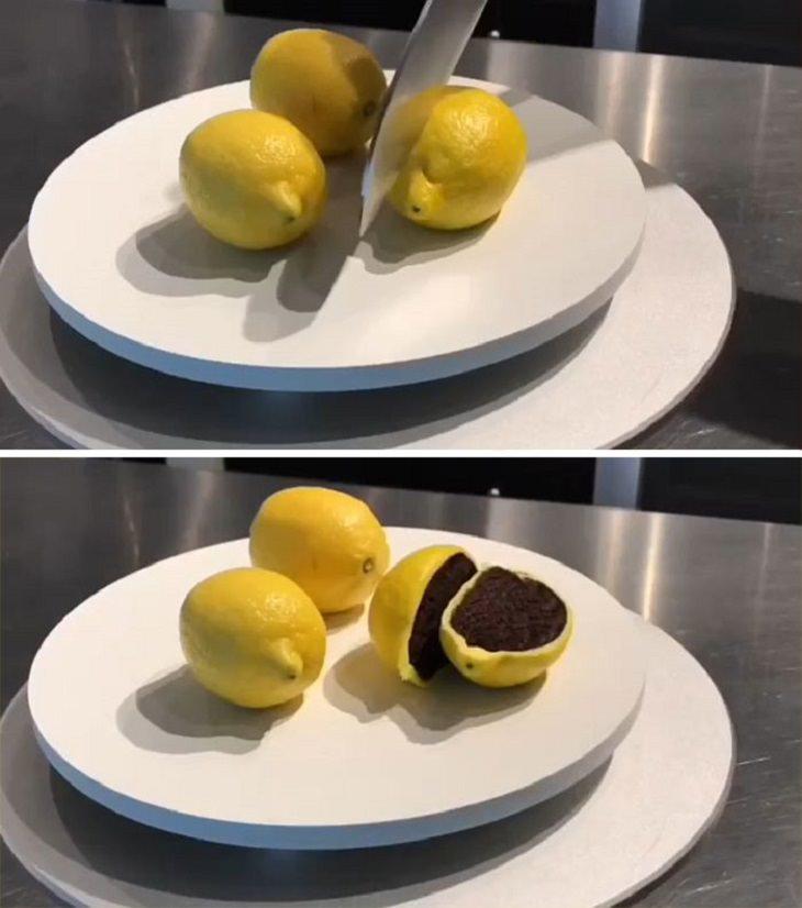 עוגות שלא נראות כמו עוגות: עוגה בצורת לימון