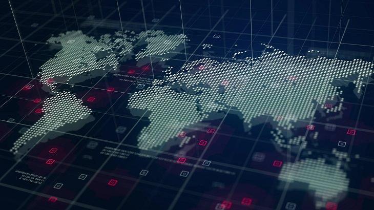 איך לבחור רשת אינטרנט: איור דיגיטלי של מפת העולם