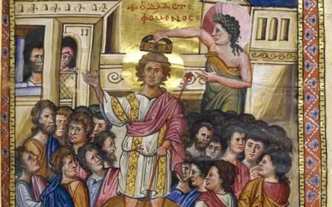 """חידון תנ""""ך: איור של משיחת מלך"""