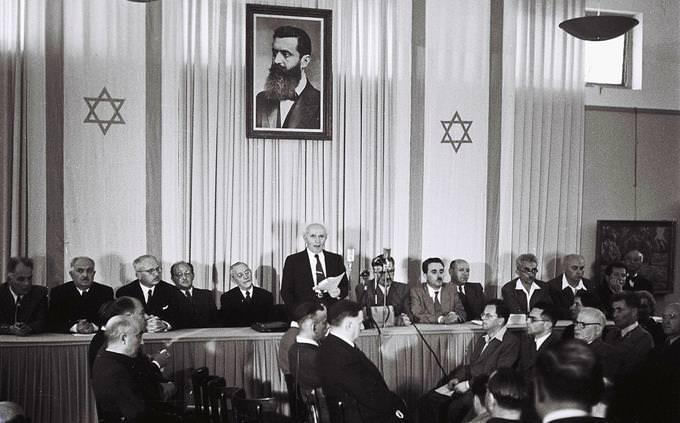 מבחן על ערים בישראל: הכרזת המדינה