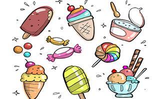 מצא את ההבדלים: גלידות וממתקים